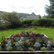 Lairg Learning Centre front garden