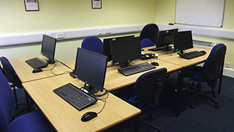 IT Suite: Each workstation is fitted with a Windows 8 PC, and internet access