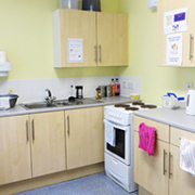 Kitchen: Students and staff collaborate to keep our communal kitchen tidy