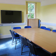 Room 1: A 50'' plasma screen, perfect for presentations and video-conferences