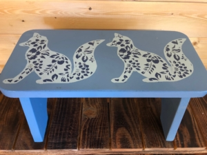Solid wood step stool or low table